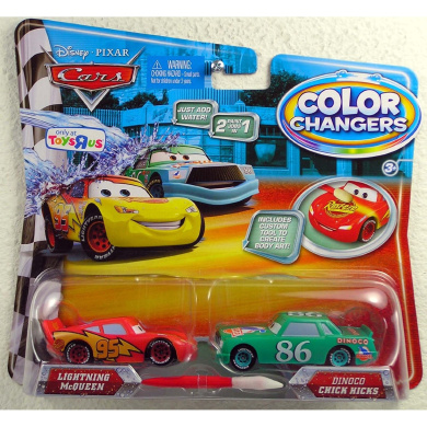 Disney / Pixar CARS Movie 155 Colour Changers 2Pack Lightning McQueen Dinoco Chick Hicks