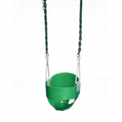 Gorilla Playsets 04-0008-G/G Full Bucket Toddler Swing - Green