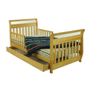 Dream On Me Toddler Bed with Storage Drawer - Natural