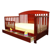 Dream On Me Deluxe Toddler Day Bed with Storage Drawer - Cherry