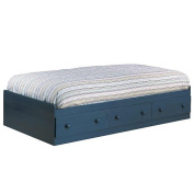 South Shore Twin 3 Drawer Mates Bed Box - Blueberry