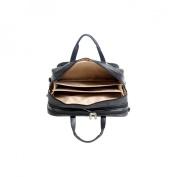 "McKlein  17"" West Loop Black Leather Expandable Double Compartment Briefcase"
