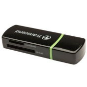 Transcend Compact P5 Card Reader/ Writer Supports SDHC/ SD/ MMC/ MicroSD/ MicroSDHC/ M2 USB2.0 Black