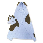 Trend Lab 101227 BLUE PUPPY CHARACTER HOODED TOWEL