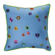 Bacati Valley of Flowers Decorative Pillow - 16x16