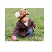 Mop Top Animal Hat- Puppy Love - Brown Multi -
