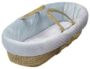 Baby Doll Chenille Moses Basket - Blue