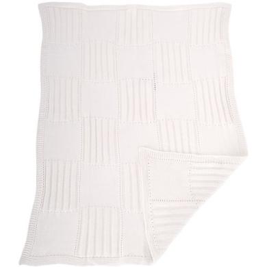 Organic Cotton Sweater Knit Blanket - Natural