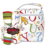 Dr. Seuss ABC Burp Cloth and Bottle Bag Set