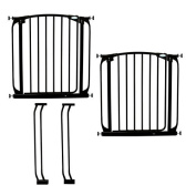 Dream Baby L786B Value Pack Two Swing Close Security Gates in Black with Extensions Included