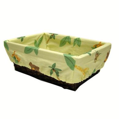 NoJo Jungle Babies Nursery Basket with Liner