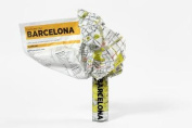 Barcelona Crumpled City Map