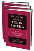 The Cambridge History of Law in America 3 Volume Paperback Set