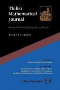 Tbilisi Mathematical Journal Volume 3