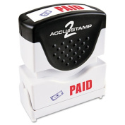 Accustamp2 035536 Shutter Stamp with Microban Red-Blue CONFIDENTIAL 1 .63 x .5