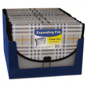 C-Line 58312 Expanding File Plaid Letter 13 Pockets 1.5 in. Exp 1-EA