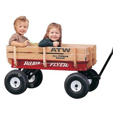Radio Flyer All-Terrain Steel & Wood Kids Waggon