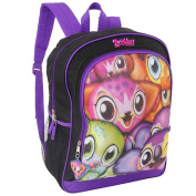 Zoobies Lots of Laughs 16 inch Backpack - Purple and Black