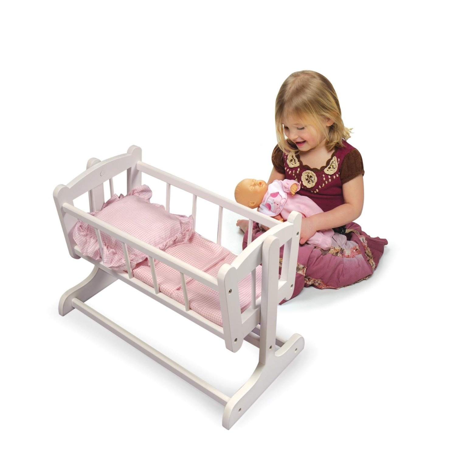 Badger Basket Heirloom Style Doll Cradle With Blanket U0026 Pillow (fits  American Girl Dolls) By Badger Basket Toys   Shop Online For Toys In  Australia