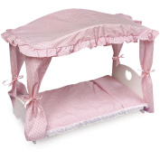 Badger Basket Doll Canopy Bed with Pink Gingham Bedding - Fits Most 46cm Dolls & My Life As
