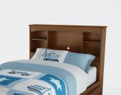 South Shore 3356098 Willow Twin Bookcase Headboard - Sumptuous Cherry
