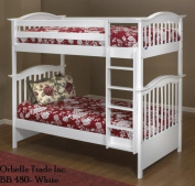 Orbelle Solid Wood Bunk Bed - White
