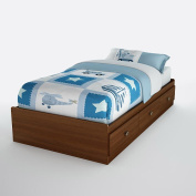South Shore 3356212 Willow Twin Mates Bed - Sumptuous Cherry
