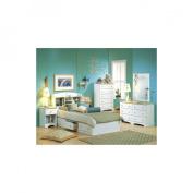 South Shore Double Dresser - Pure White / Natural Maple