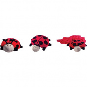 Zoobies Lily the Ladybug Plush Pillow and Blanket