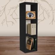 Way Basics Eco-Friendly Triple Storage Cube Plus - Black
