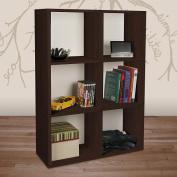 Way Basics Eco-Friendly Tribeca Bookcase and Storage - Espresso