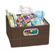 JJ Cole Short Storage Box - Cocoa Stripe