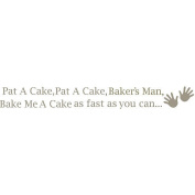 WallPops 2 Sheet Pat a Cake Nursery Rhyme Decal Kit - Pewter