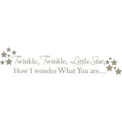 WallPops 2 Sheet Twinke Twinkle Nursery Rhyme Decal Kit - Pewter