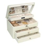 Mele & Co. 0078911 Katherine Pearl Finish Jewellery Box