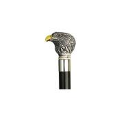 Unisex Bald Eagle Head Cane Black Shaft