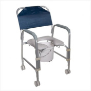 Knock Down Aluminum Shower Chair and Commode with Casters