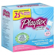 Playtex Personal Cleansing Cloths, Light Fresh Scent, 20 wipes