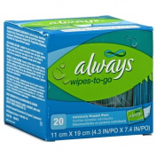 Always Wipes-To-Go, Individually Wrapped, 20 wipes