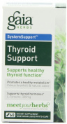 Gaia Herbs Thyroid Support, 100% Vegetarian, Liquid-Filled Capsules 60 capsules