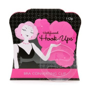 Hollywood Hook-Up Clear Bra Converting Clip 2 Clips
