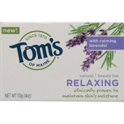 Tom's of Maine Relaxing, Natural Beauty Bar Soap, with Calming lavender 1 bar