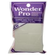 Wonder Professional Makeup Sponges Large Wedge #04100 - 8 Count