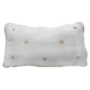 Spa Sister Luxury Terry Velour Bath Pillow Beige Dots