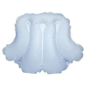 Spa Sister Luxury Inflatable Terrry Bath Pillow Light Blue