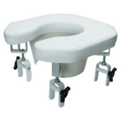 Graham-Field Multi-position Open Padded Raised Toilet Seat- Open Padded Raised Toilet Seat, Each