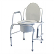 Graham-Field Silver collection steel drop arm three-in-one commode- Commode, Each
