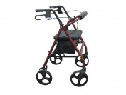 Rollator with Fold Up and Removable Back Support and Padded Seat