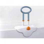 Drive Medical MG12050SC Michael Graves Clamp On Height Adjustable Tub Rail with Soft Cover Soap and Shampoo Dish