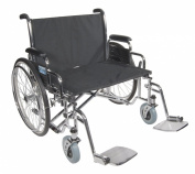 Drive Medical Sentra EC Heavy Duty Extra Wide Wheelchair with Various Arm Styles Arms, Black, 70cm